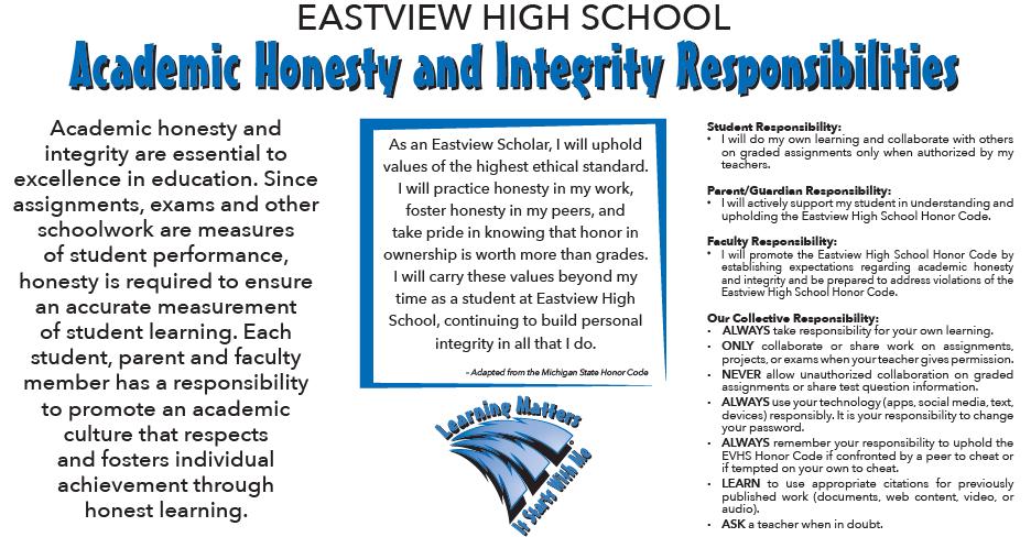 Eastview High School - Honor Code